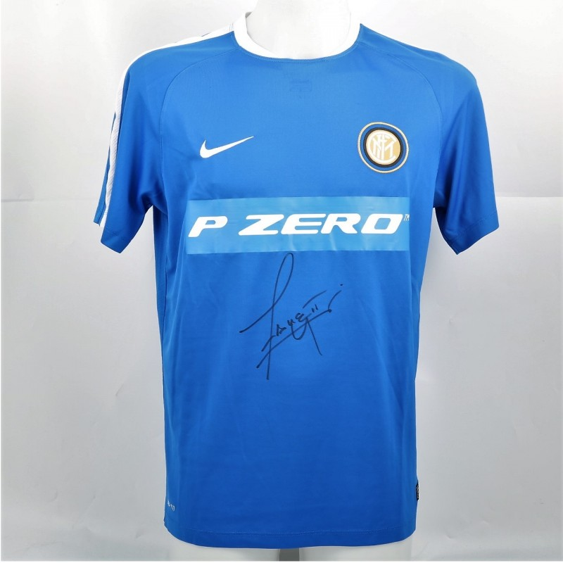 Zanetti's Signed Inter Practice Shirt, 2013/14
