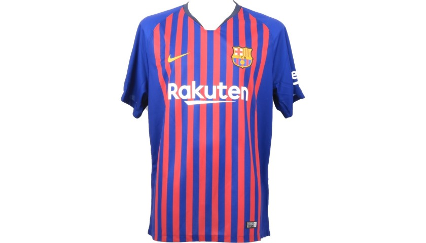 Official Barcelona 2018/19 Shirt Signed by Messi