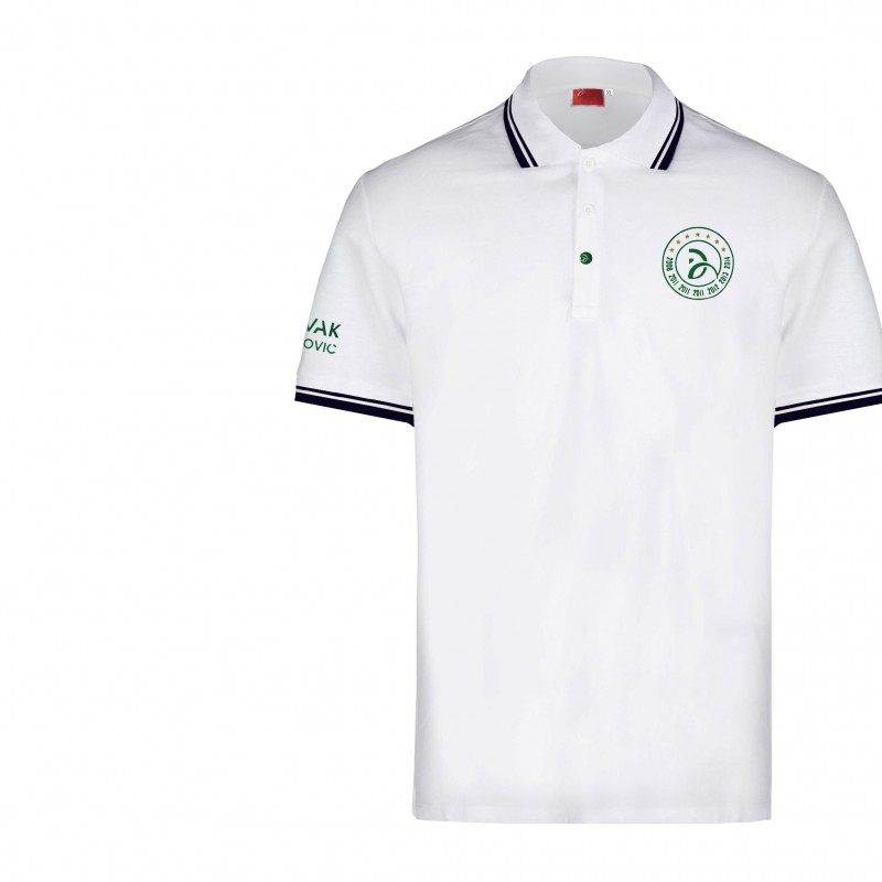 NDF 7 Slam Celebrative White Polo - signed by Djokovic