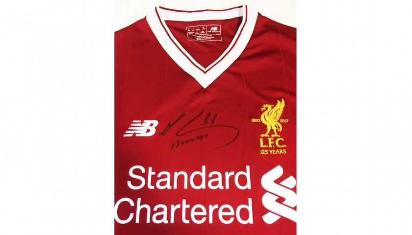 f5fa0ebdc Mohamed Salah Signed 125 Home Shirt - CharityStars