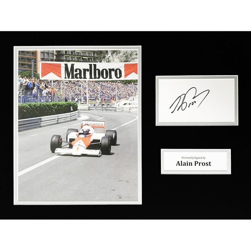 Alain Prost Signed Formula 1 Photo Display