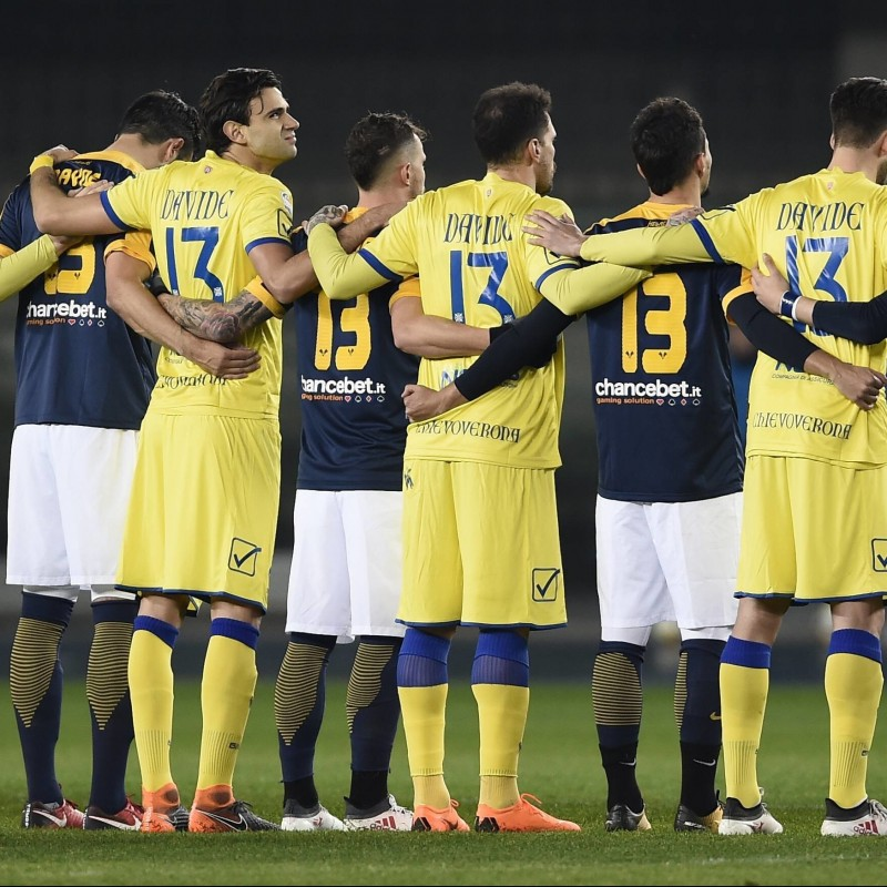 Pre-Derby Chievo-Verona Match-Worn Shirt, in Honor of Davide Astori