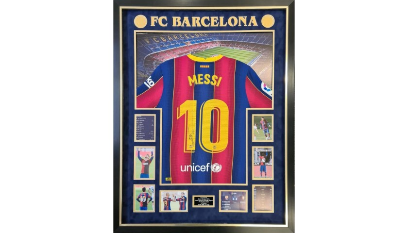 Messi's Match-Issued and Signed Shirt, Final Season Barcelona
