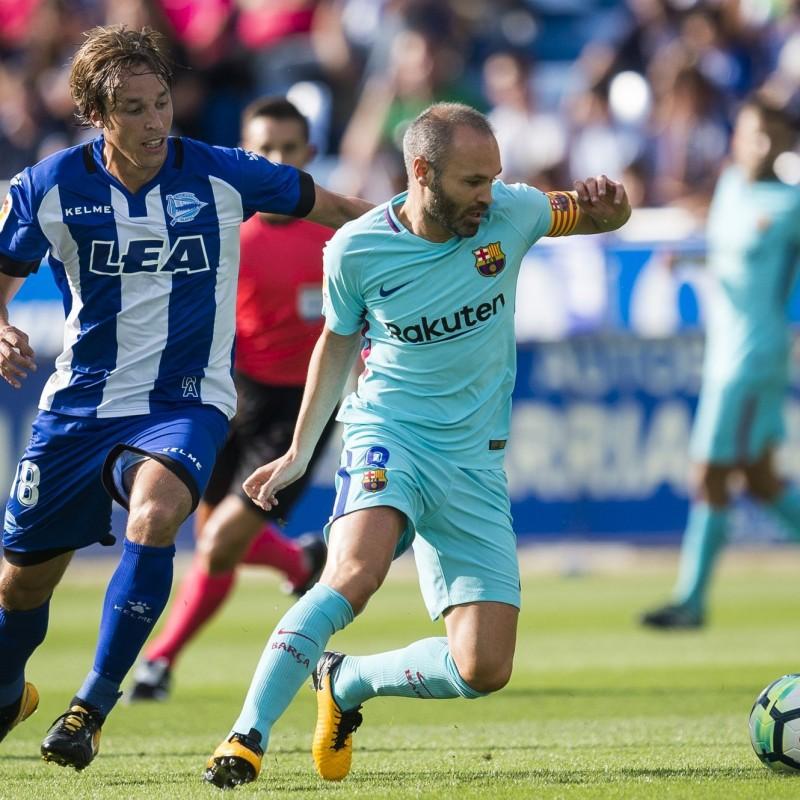 Iniesta's Barcelona Match Issued Shirt, 2017/18