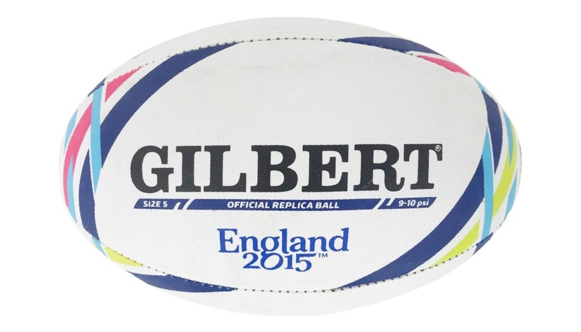 Official Gilbert Rugby Ball, 2015 - Signed by Sergio Parisse