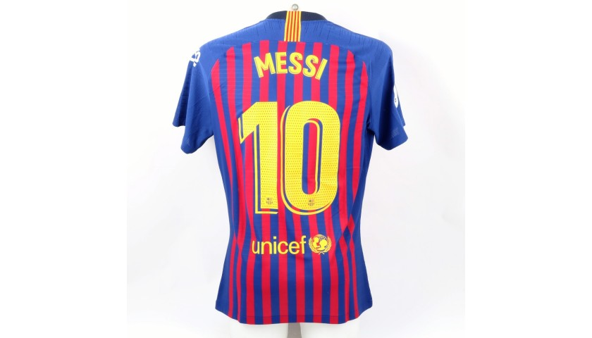 competitive price c95b2 b4e1d Messi's Barcelona Match Shirt, Iniesta Last Match 2018 - CharityStars