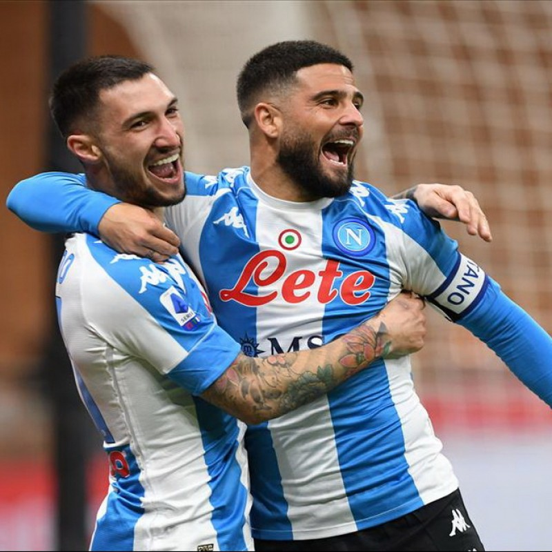 Insigne's Napoli Worn and Signed Shirt, 2020/21