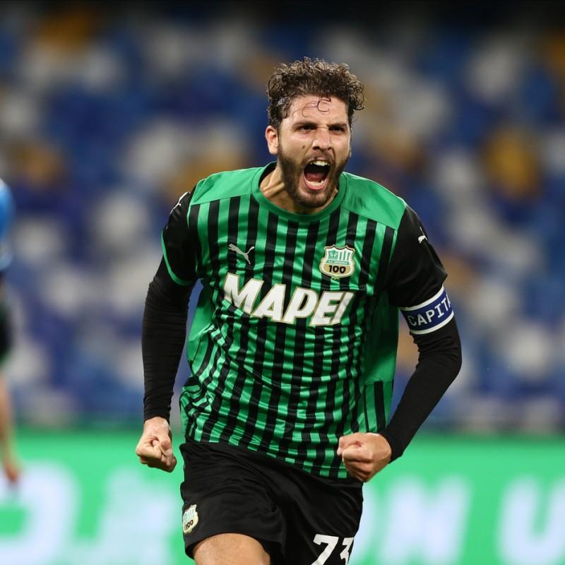 Locatelli's Sassuolo Signed Match Shirt, 2020/21