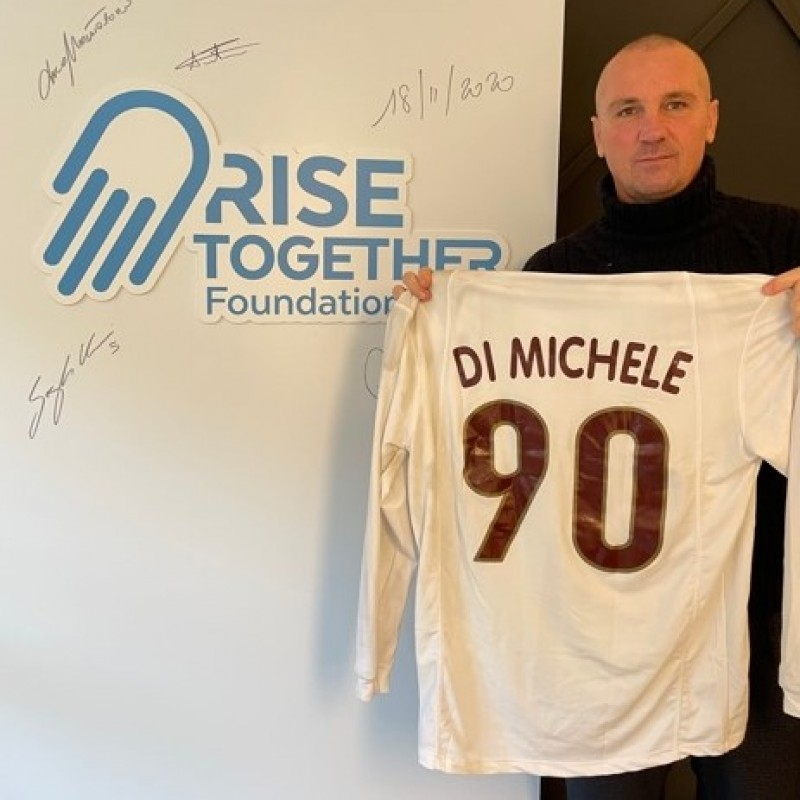 Di Michele's Salernitana Worn Shirt, 2000/01