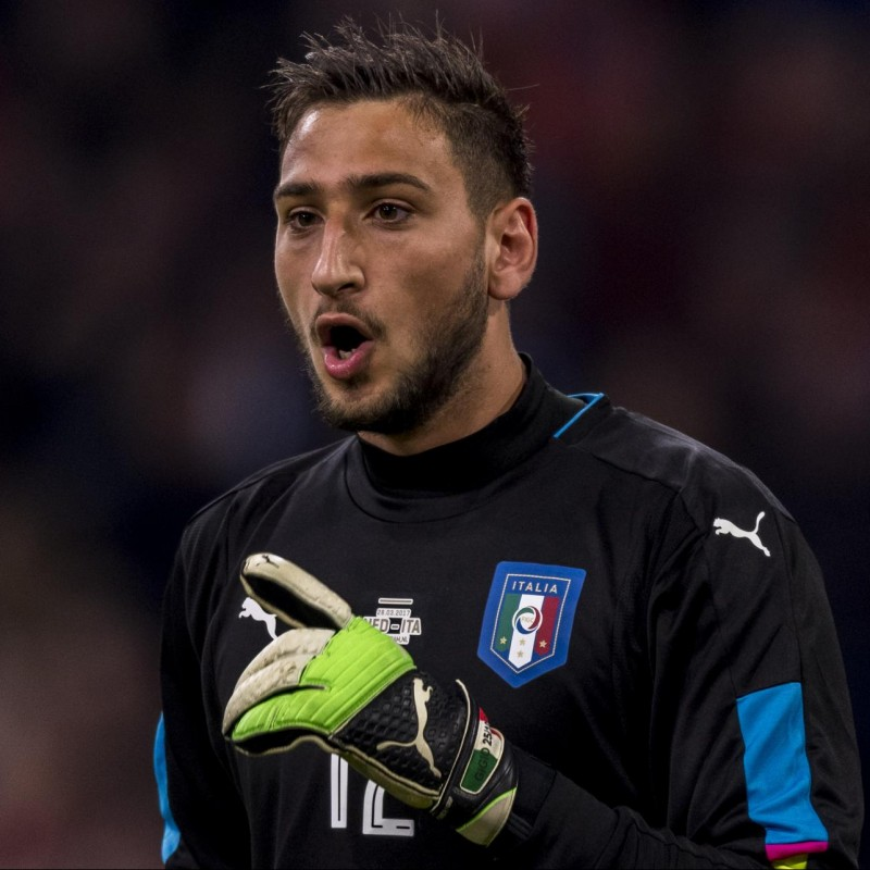 Donnarumma's Italy U21 Match Shirt, 2016 Season