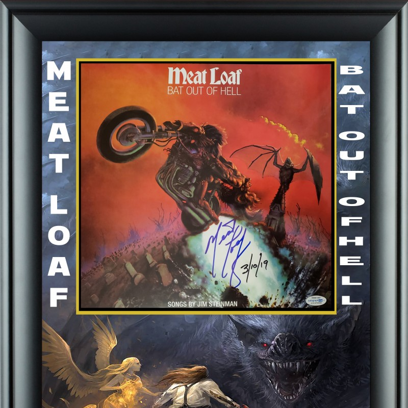 "Meat Loaf Signed ""Bat Out of Hell"" Album Display"