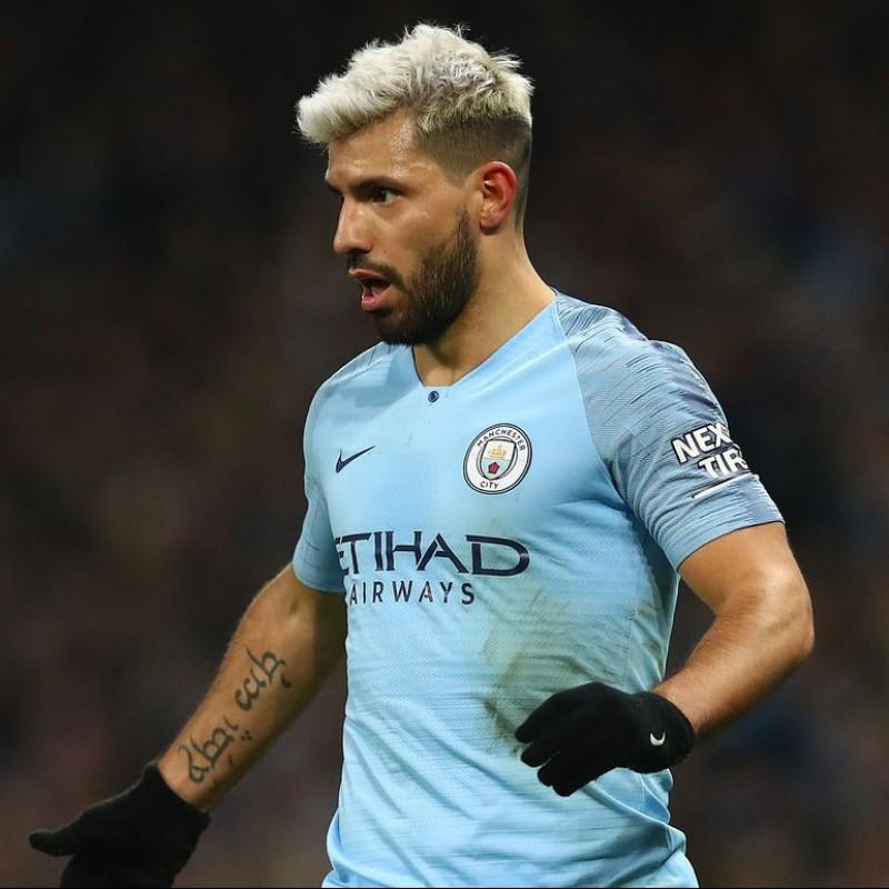 Aguero's Official Man City Signed Shirt, 2018/19
