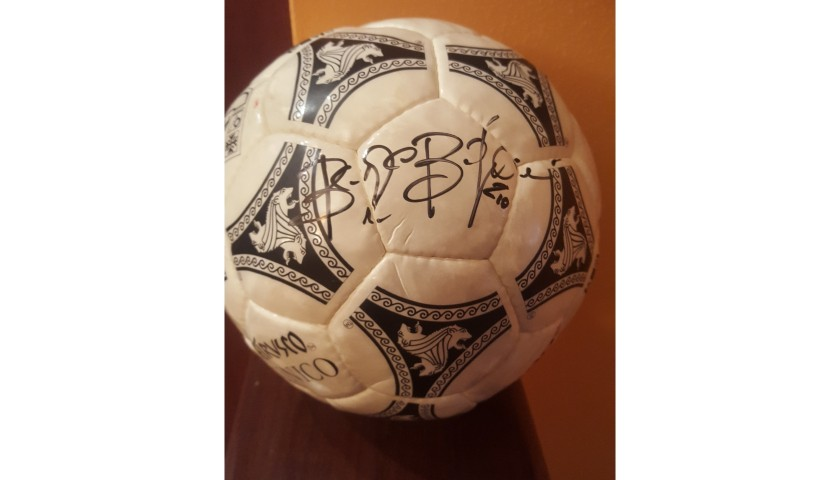 Etrusco Football, Italia '90 - Signed by Beppe Bergomi