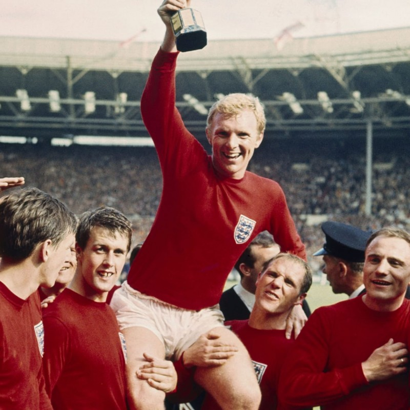 Bobby Moore's Official England Celebratory Shirt, 2010 - Signed by Bobby Charlton