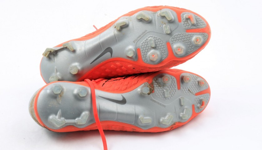 Andrea Petagna's Worn and Signed Nike Boots
