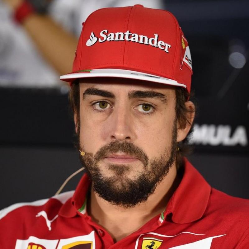 Ferrari Team Cap - Signed by Fernando Alonso