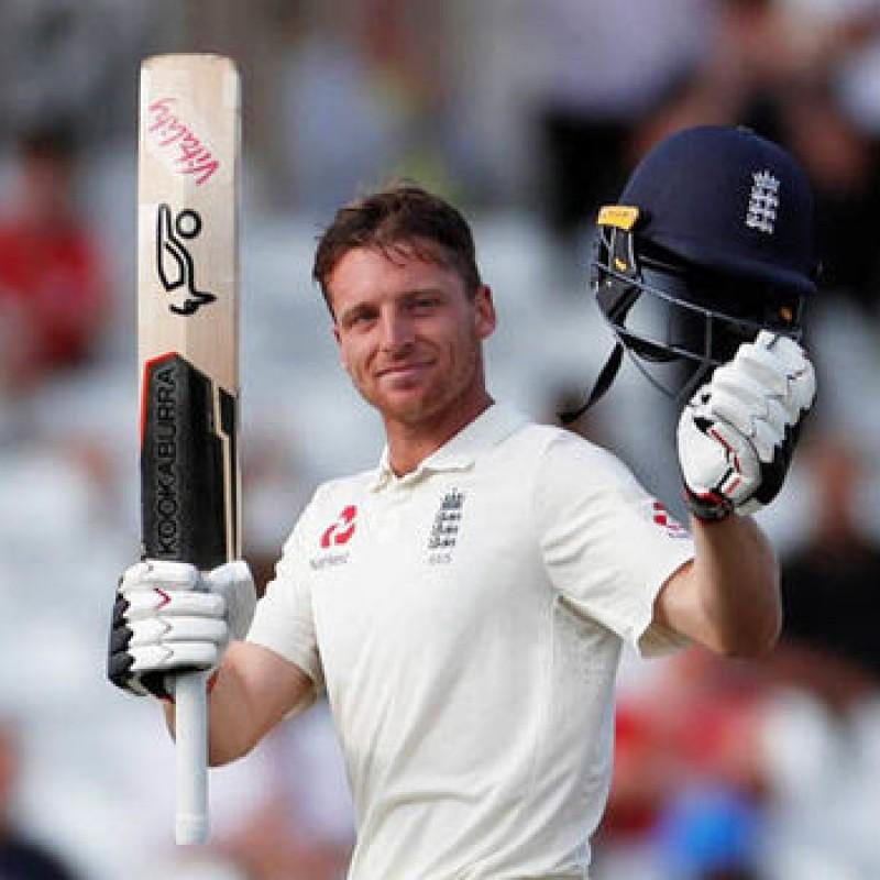 ECB 2018 Cricket Test Poppy Shirt Signed by Buttler