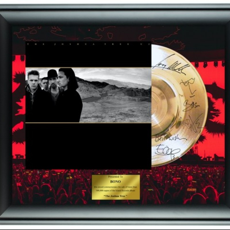 U2 Custom Framed Gold Record Display