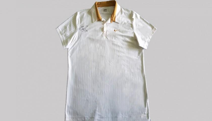 Roger Federer's Match-Worn Signed Shirt Wimbledon 2009