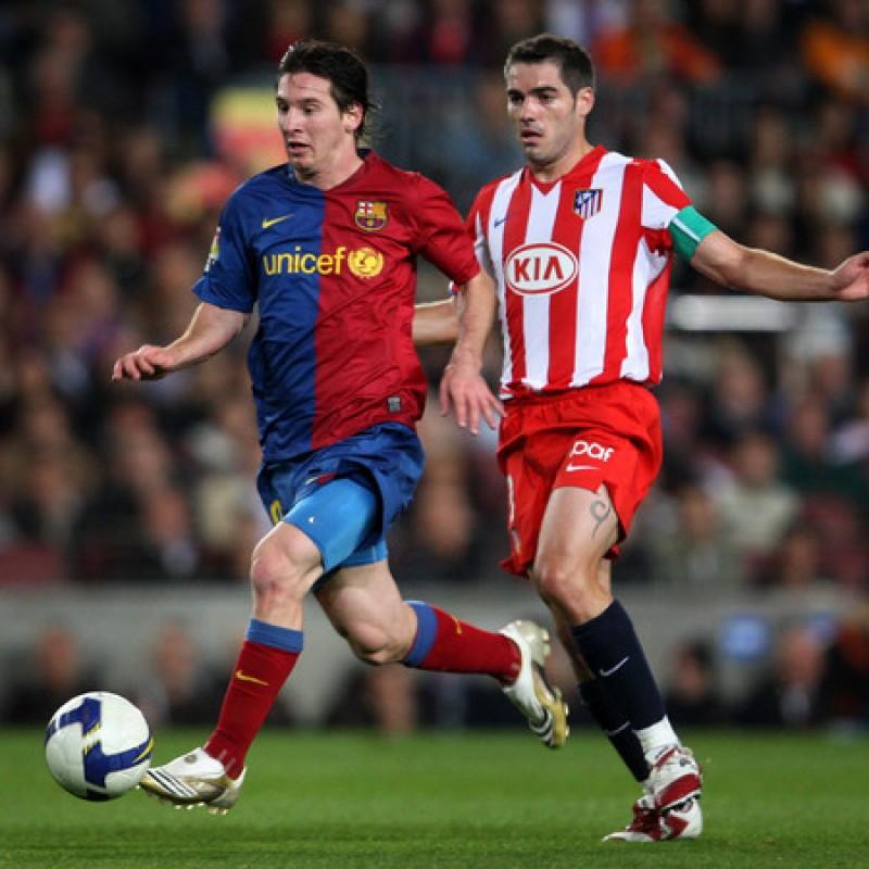 Maglia gara Messi, Barcellona-Atletico Madrid 2008
