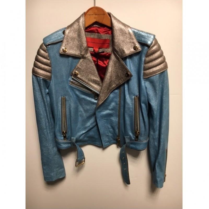 Blue Biker Jacket by Tommy Hilfiger