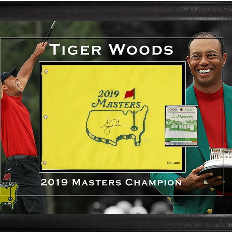 Tiger Woods Limited Masters Signed Shadowbox