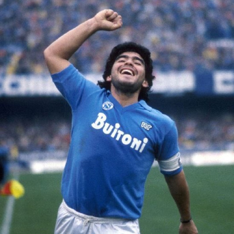 Maradona's Napoli Signed Match Shirt, 1986/87