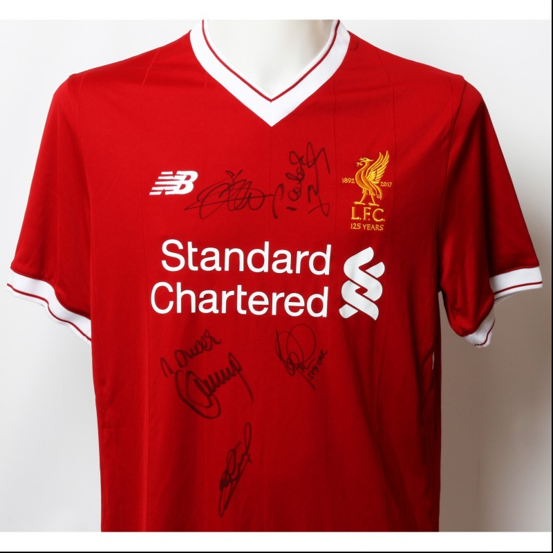 "Official LFC 125 ""Istanbul 2005"" Shirt Signed by Gerrard, Hypia, Berger, Smicer and  Dudek"