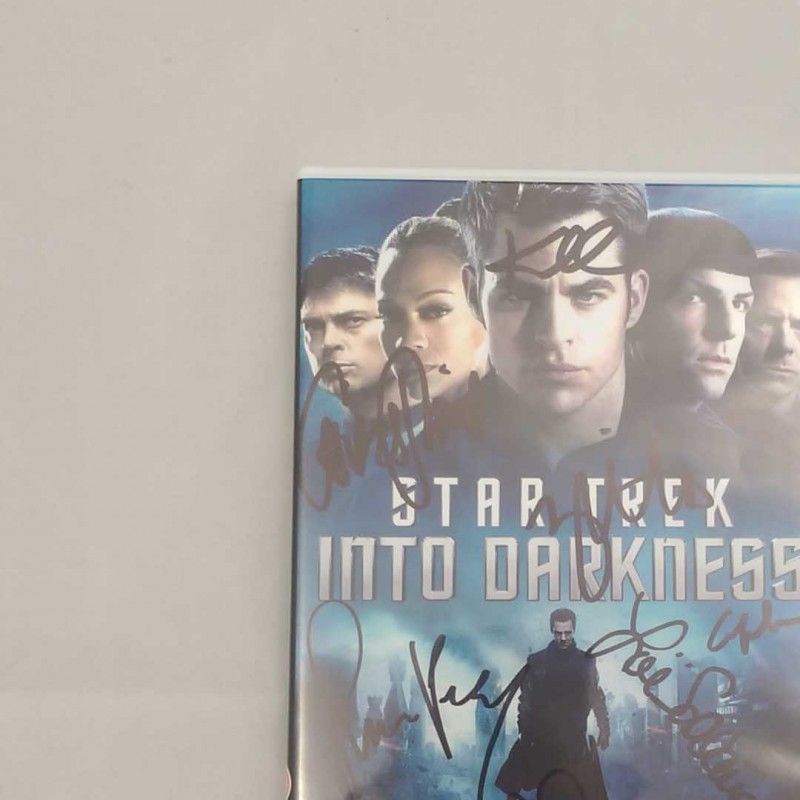 Star Trek Into Darkness DVD Signed by Cast Including Simon Pegg, Zoe Saldana and Anton Yelchin