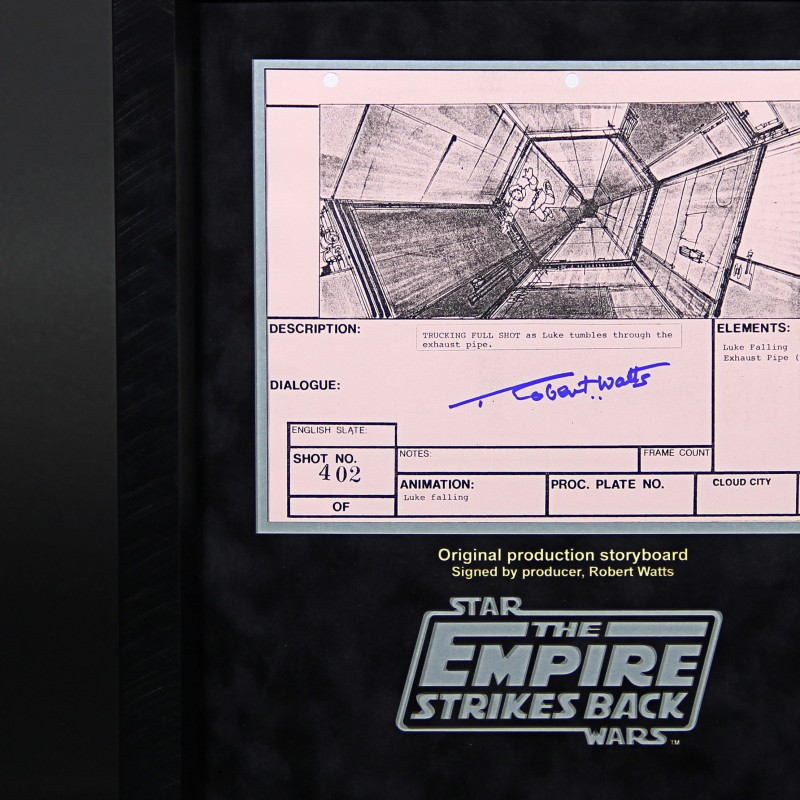 Star Wars Ep V The Empire Strikes Back Storyboard - signed by Robert Watts