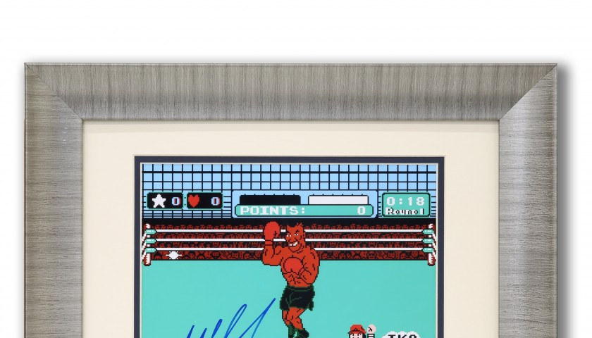 Nintendo Punch-Out Game Print Autographed by Mike Tyson