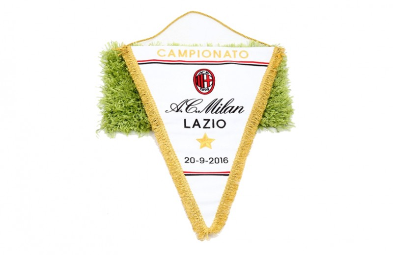 Official Serie A 2016/17 Season Pennant of the Milan-Lazio Match