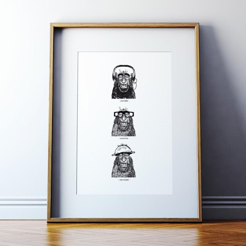 """Three Monkeys"" by Stefano Epis"