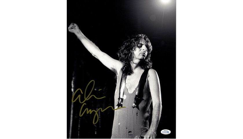 Alice Cooper Hand Signed Photograph