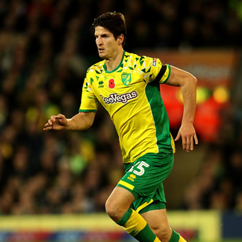 Klose's Worn and Signed Norwich City Poppy Shirt