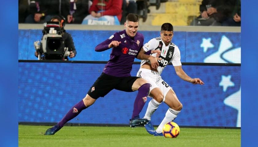 Milenkovic's Worn Shirt with Mandela Patch, Fiorentina-Juventus ...