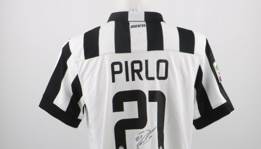 Pirlo Juventus official replica shirt, Serie A 2014/2015 - signed