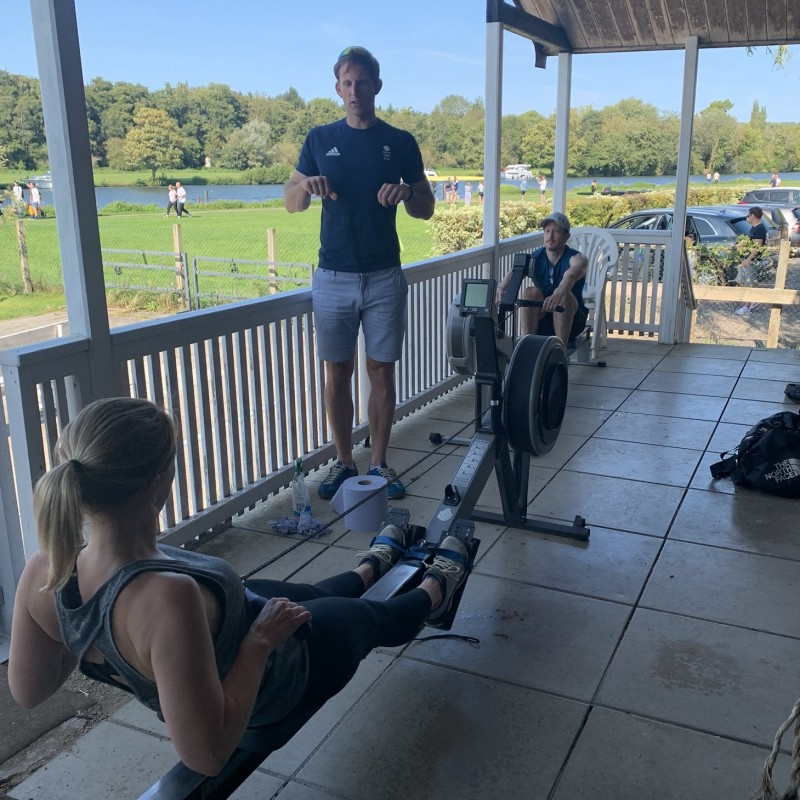 Virtual Training With a GB Elite Rower
