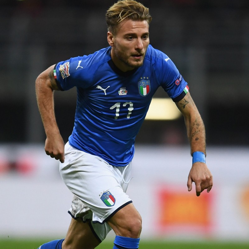 Immobile's Match Shirt, Italy-Poland 2018