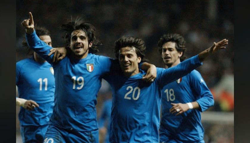 Montella's Italy Match Shirt, 2002