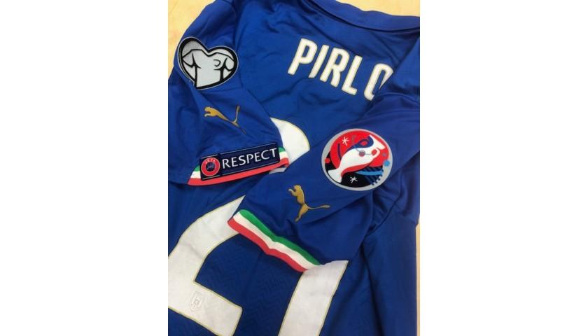 Pirlo's Italy Match Shirt, Euro 2016 Qualifiers