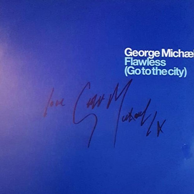 """George Michael Signed Flawless (Go to the city) Promotional Vinyl 12"""""""