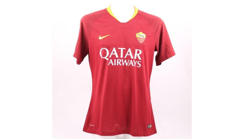 Santon's Worn and Signed Shirt, Roma-Genoa 2018