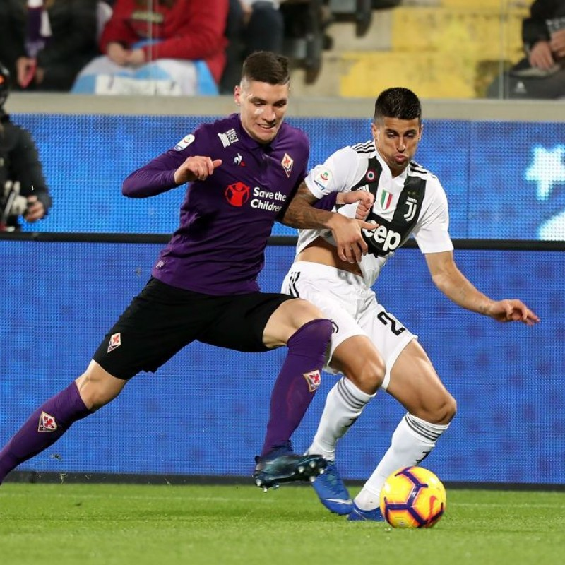 Milenkovic's Worn Shirt with Mandela Patch, Fiorentina-Juventus
