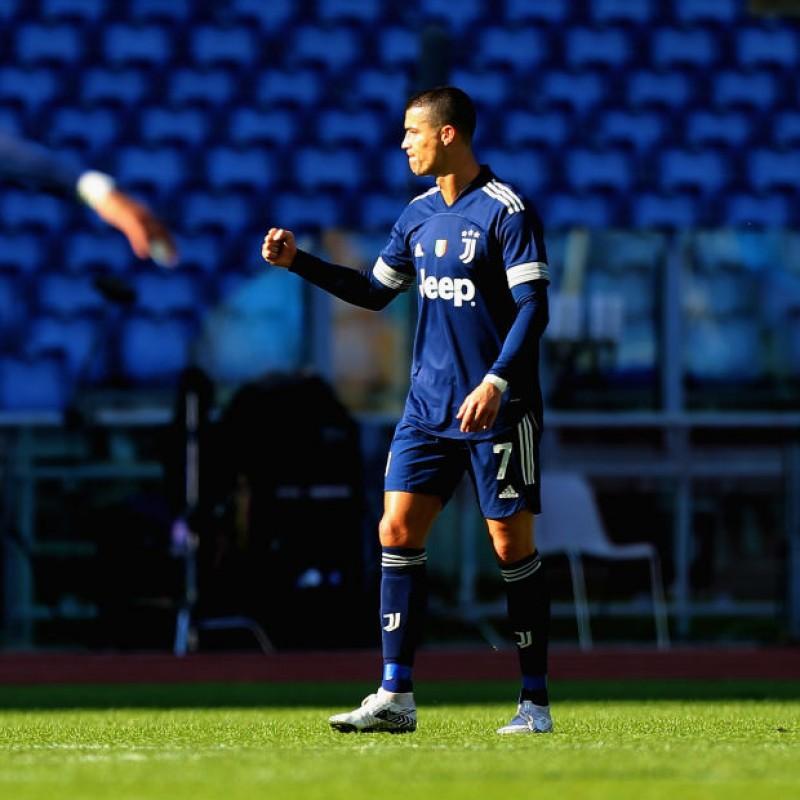 Ronaldo's  Juventus Signed Match Shirt, UCL 2020/21