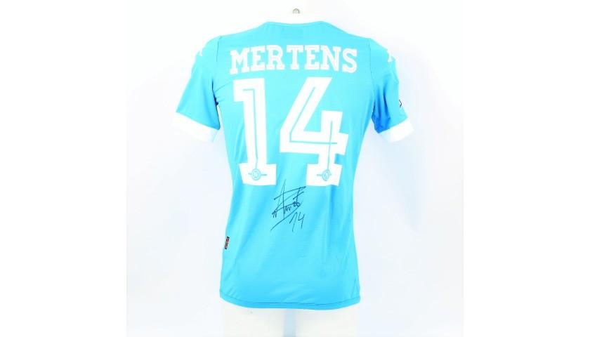 Mertens's Napoli Worn and Signed Shirt, 2015/16