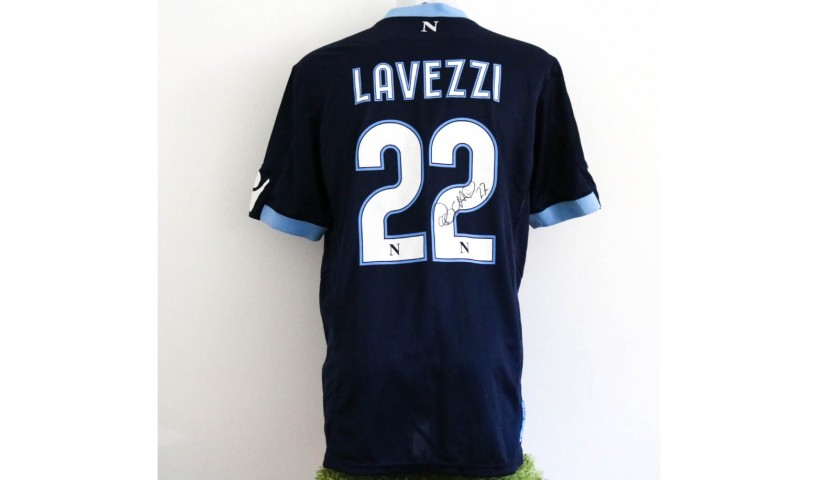Lavezzi's Napoli Worn and Unwashed Signed Shirt, 2010/11 Season