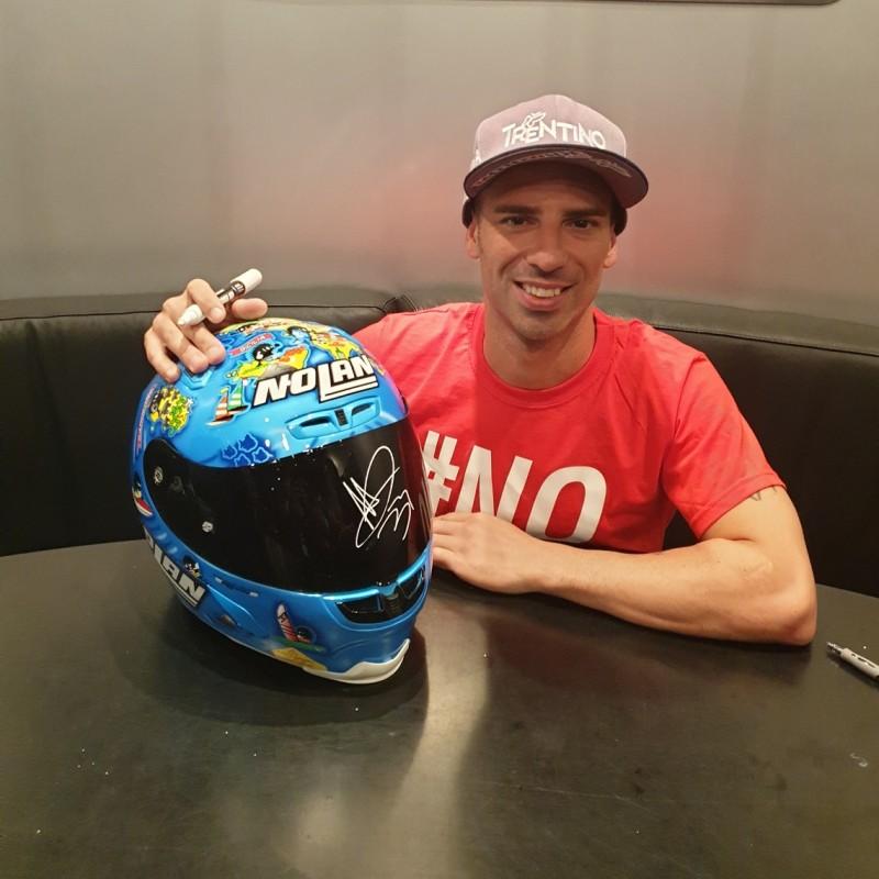 Marco Melandri Signed Replica Helmet