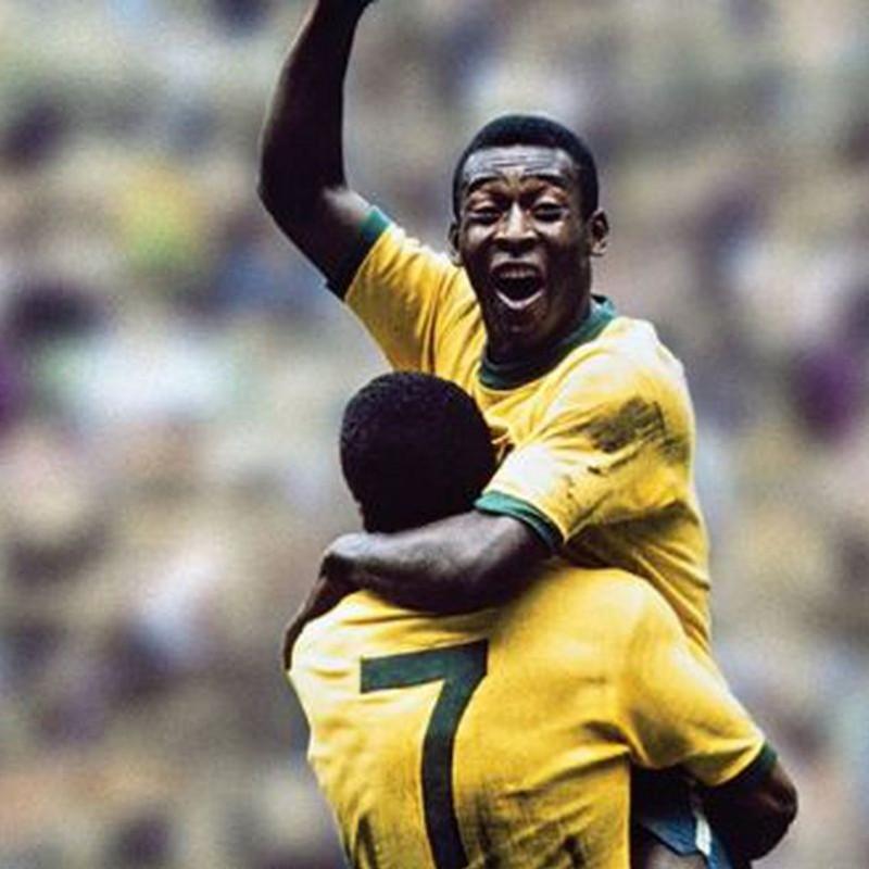 Official Replica Brazil 1970 Shirt Signed by Pelé