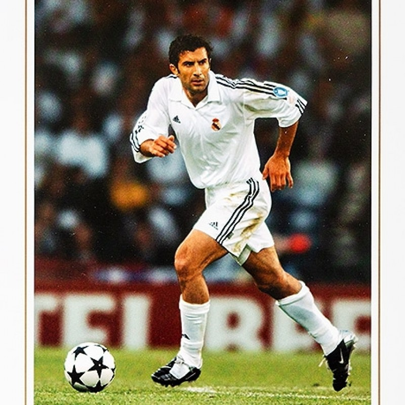 Luis Figo Signed Real Madrid Photo